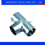 Welded Polishing Sanitary Y Type Tee 3 Way Elbow Pipe Fittings