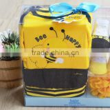 2015 Newest Fashion Design, Newborn Baby Cloth Gift Set with elegant gift box packing, Outfit Sets, in Stock, accept OEM
