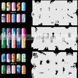 Airbrush Stencils For Nail Art Paint Air Brush Salon 320 Design (20 Sheets) Set No.8