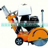 Walk behind cutting saw machine for concrete and asphalt