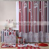 Hot sale Bath set/custom bathroom set/Shower curtain with matching bath mat and accessories