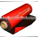 Flexible magnet rubber sheet with red PVC; Color PVC flexible plastic sheet; PVC flexible plastic sheet