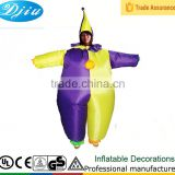 DJ-CO-186 Circus clown inflatable costume adult red jumpsuit