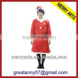 cheap girl xmas dress set with hat wholesale baby girl lace dress set