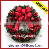 New custom style indoor christmas decoration wreaths artificial boxwood wreath