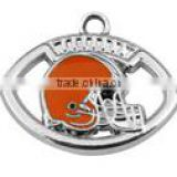 Hot NFL Charms Enamel Cleveland Browns Football Charms For Bracelet