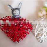 factory wholesale wicker/willow heart decoration holiday decor/party decor