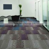 Double color Environmental friendly commercial 100% nylon carpet tiles for office use (Mosaic Series)