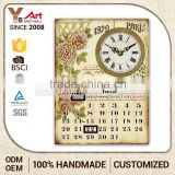 Sales Promotion Exceptional Quality Calendar Resin Vintage Wall Plaque Blank Trophy Plaques