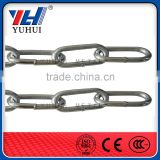 Q195 or Q235 welded galvanized long link chain factory