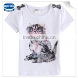 2-6y (K6101) newest kids garments car printed nova branded kids wear summer animal printed stock baby tops gilrs