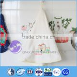 china wholesale hanging terry round container home fabric 100% cotton microfiber hand towels with embroidery