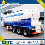 China low density bulk cement/powder material transport tanker truck semi trailer for sale