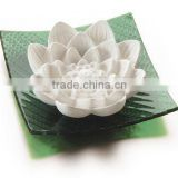 Crystal glass based china plaster crafts decorative home fragrance scented lotus flower stone                                                                         Quality Choice