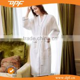 China Fabric textile shawl collar waffle dobby ladies bathrobes