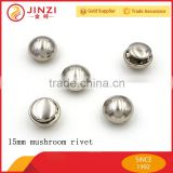 5-15mm size double cap/mushroom head rivet for handbags accessories