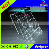 A4 acrylic mac cosmetic display tabletop holder menu display stand clear lucite desktop stand