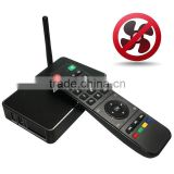 Streaming android 4.4 tv box realtek M-195 ,digital audio,perfect image fluidity 4K H265 3D media player