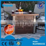 S2015 hot Sell Gas Fire Pit with CE/ESA approved(KLD4001SS)