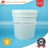 Plastic Bucket, 16L Water Drum, Paint Container with Lid and Metal Handle