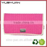 2015 Chinese manufacturer wholesale pink clutch cosmetic bag folding rolling hairdressing tool bag