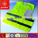polyester high visibility reflective security warning coat with CE FDA ISO