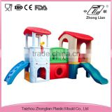 Interesting design cheap plastic duable outdoor playground slide set