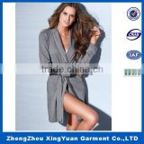 Jersey fabric open front bath robe for lady wholesale women's robe