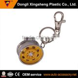 car wheel promotional custom metal key ring