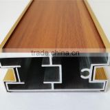 Wooden grain aluminum extrusions for windows and doors, fashionable and customized designs