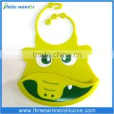Hot sale silicone baby drool bib