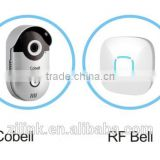 P2P two-way audio Wifi Doorbell, IP66 Waterproof Smart Home with CE, FCC, RoHS multi apartments video door phone.