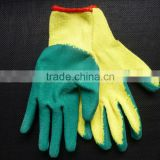 13G latex coated polyester gloves rubber coated cotton gloves nitrile coated work gloves,rubber coated work gloves/guantes 0204