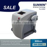 (SW-208E)2014 powerful advance 808 diode laser for hair removal pain free hair removal machine