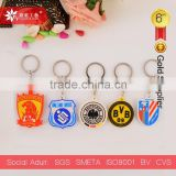 various countries football team soft pvc keychain pvc rubber key chain