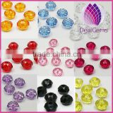 Wholesale beads acrylic,multicolored, 6 - 12mm faceted rondelle,11colors to option.