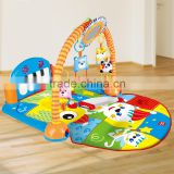 Hot sale Eco-friendly baby play gym with pedal piano Early education indoor piano gym mat pedal piano fitness
