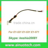 laptop dc jack for Toshiba Satellite (Pro) U500 U505 power jack connector with cable