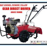 9HP Hand Diesel Power Tiller Walking Tractor Cultivator