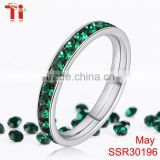 online shop china key ring keys stainless steel engagement ring diamond custom green crystal stone bands for women May