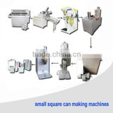 Small Rectangular Oil metal can machinery packing equipment