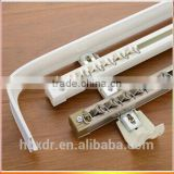 Anodized bending types of aluminum shower curtain rod double track