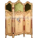 Classical Hand Painting Folding Screen Antique Wooden Curio Floor Screens Decorative Furniture Wood Carved Screen