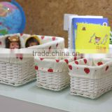 wholesale fabric lined rectangular wicker cd storage basket wicker bathroom storage basket wicker books storage basket
