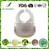 Environmental durable cute design bamboo fiber baby bib