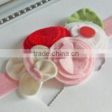 Hot new bestselling product wholesale alibaba handmade quality wool felt flower hair bows headband made in China