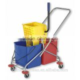 2015 newest plastic cleaning mop trolley