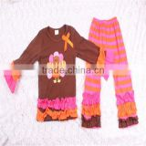 Persnickety Western Girls Thanksgiving Turkey Outfit Fancy Ruffle Casual Baby Wholesale Clothing Market