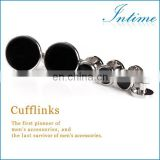 Metal Buttons Cufflinks and Studs Sets Best Man Silver buttons Cufflink for Shirt
