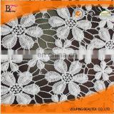 Milk 100% polyester silk water soluble embroidery lace fabric lace fabrics The little flower leaves